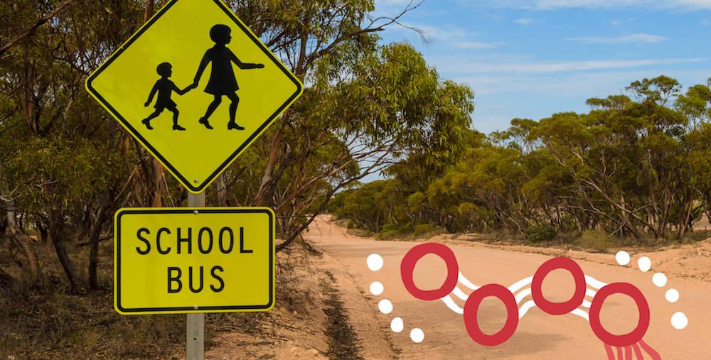 rural school bus sign