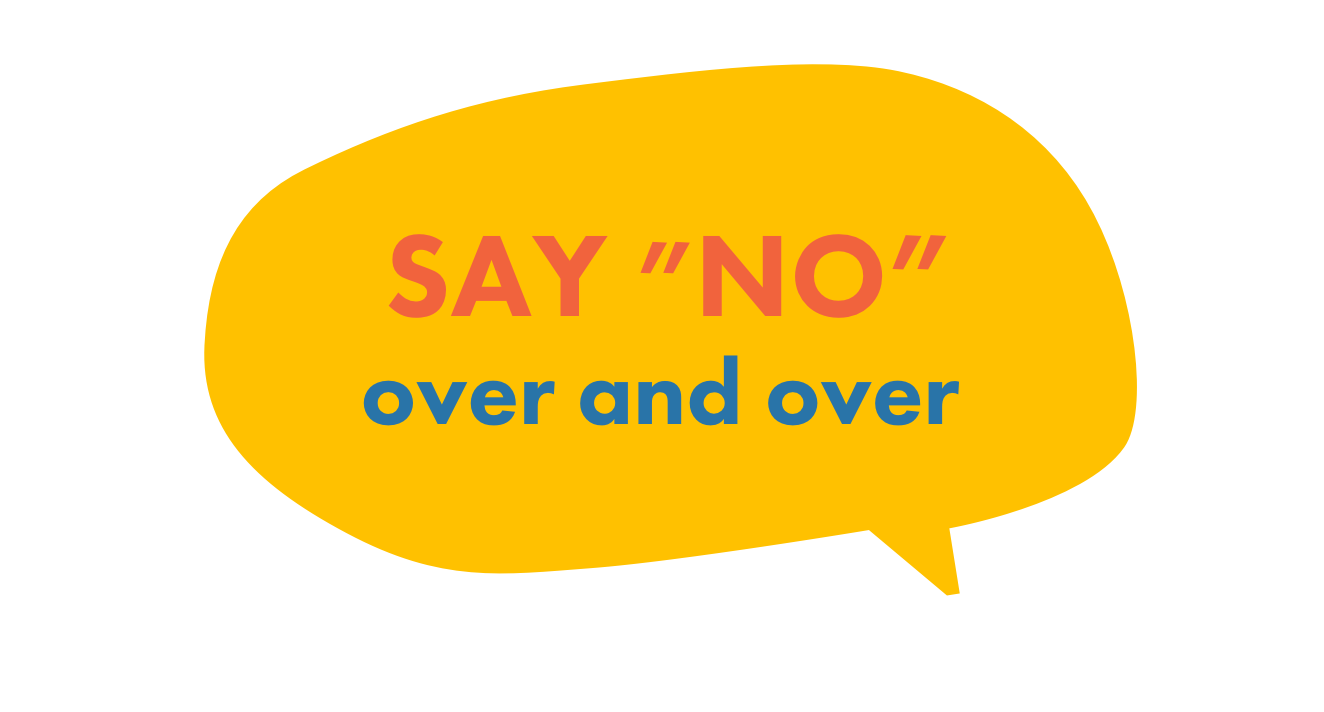 say no to drugs by saying 'no' over and over